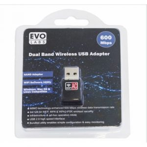 EvoLabs Dual Band (AC600) WiFi Adapter